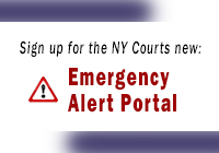 New York Courts Emergency Alert Portal