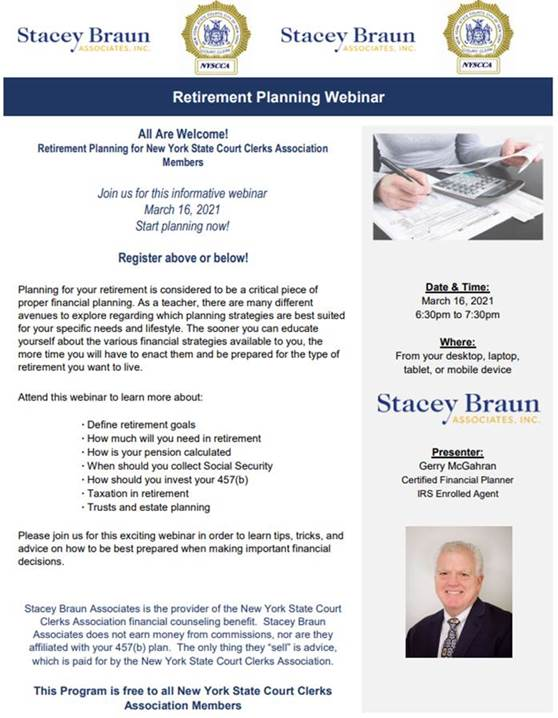 Stacy Braun Retirement Planning Webinar
