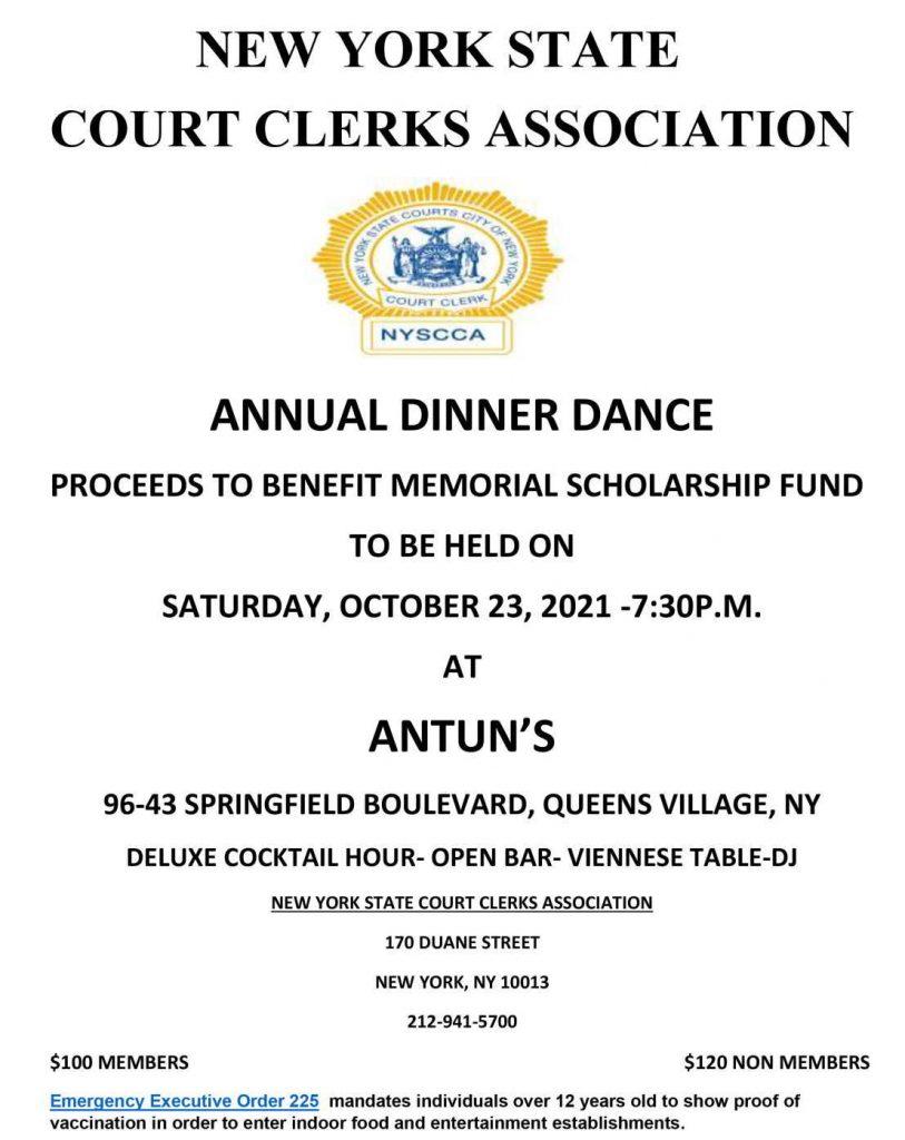 NYSCC Annual Dinner Dance 2021